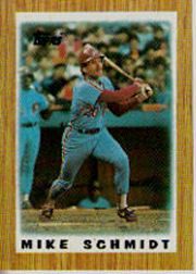 1987 Topps Mini Leaders Baseball Cards 030      Mike Schmidt