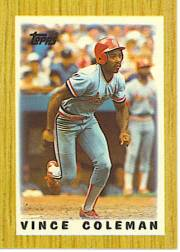1987 Topps Mini Leaders Baseball Cards 032      Vince Coleman