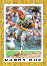 1987 Topps Mini Leaders Baseball Cards 033      Danny Cox