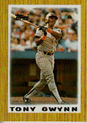1987 Topps Mini Leaders Baseball Cards 035      Tony Gwynn