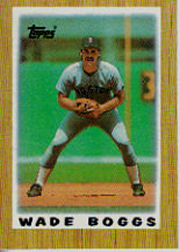 1987 Topps Mini Leaders Baseball Cards 041      Wade Boggs
