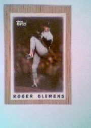 1987 Topps Mini Leaders Baseball Cards 042      Roger Clemens