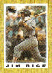 1987 Topps Mini Leaders Baseball Cards 044      Jim Rice