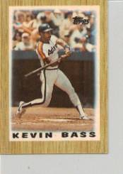 1987 Topps Mini Leaders Baseball Cards 007      Kevin Bass