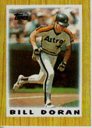 1987 Topps Mini Leaders Baseball Cards 009      Bill Doran DP