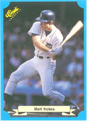 1988 Classic Blue Baseball Cards       207     Matt Nokes