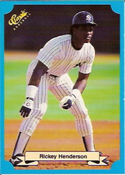 1988 Classic Blue Baseball Cards       234     Rickey Henderson