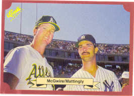 1988 Classic Red Baseball Cards        151     Mark McGwire and#{Don Mattingly