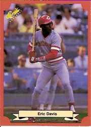 1988 Classic Red Baseball Cards        154     Eric Davis