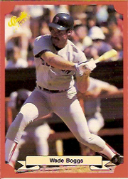 1988 Classic Red Baseball Cards        155     Wade Boggs