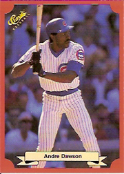 1988 Classic Red Baseball Cards        157     Andre Dawson