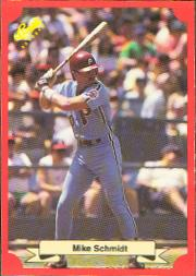 1988 Classic Red Baseball Cards        167     Mike Schmidt