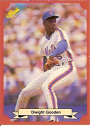 1988 Classic Red Baseball Cards        171     Dwight Gooden