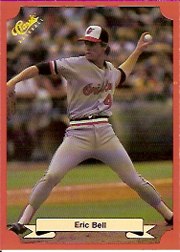 1988 Classic Red Baseball Cards        193     Eric Bell