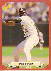 1988 Classic Red Baseball Cards        196     Dave Stewart