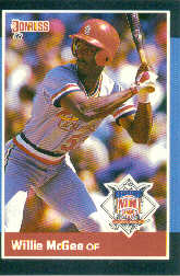 1988 Donruss All-Stars Baseball Cards  044      Willie McGee