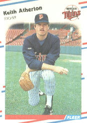 1988 Fleer Baseball Cards      001      Keith Atherton
