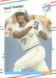 1988 Fleer Baseball Cards      110     Cecil Fielder