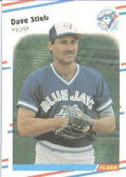 1988 Fleer Baseball Cards      123     Dave Stieb