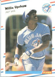 1988 Fleer Baseball Cards      124     Willie Upshaw