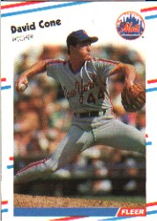 1988 Fleer Baseball Cards      131     David Cone