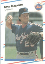 1988 Fleer Baseball Cards      141     Dave Magadan