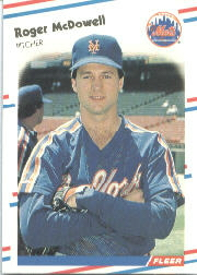 1988 Fleer Baseball Cards      142     Roger McDowell