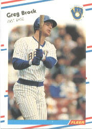 1988 Fleer Baseball Cards      158     Greg Brock