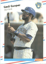 1988 Fleer Baseball Cards      161     Cecil Cooper