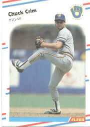 1988 Fleer Baseball Cards      162     Chuck Crim