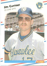 1988 Fleer Baseball Cards      165     Jim Gantner
