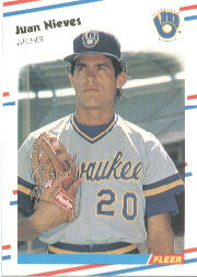 1988 Fleer Baseball Cards      170     Juan Nieves