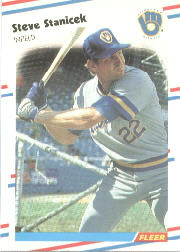1988 Fleer Baseball Cards      174     Steve Stanicek