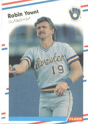 1988 Fleer Baseball Cards      178     Robin Yount