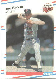 1988 Fleer Baseball Cards      018      Joe Niekro