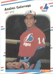 1988 Fleer Baseball Cards      184     Andres Galarraga