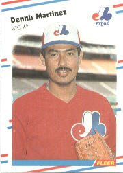 1988 Fleer Baseball Cards      188     Dennis Martinez