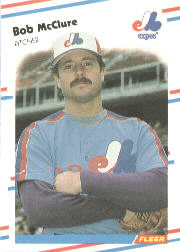 1988 Fleer Baseball Cards      189     Bob McClure
