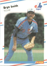 1988 Fleer Baseball Cards      196     Bryn Smith
