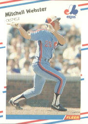 1988 Fleer Baseball Cards      199     Mitch Webster