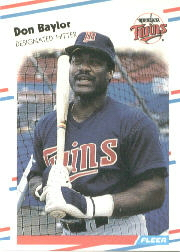 1988 Fleer Baseball Cards      002      Don Baylor