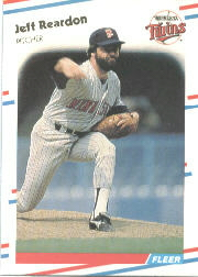 1988 Fleer Baseball Cards      020      Jeff Reardon