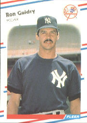 1988 Fleer Baseball Cards      207     Ron Guidry