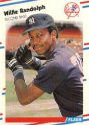1988 Fleer Baseball Cards      218     Willie Randolph