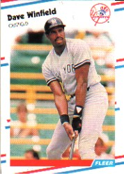 1988 Fleer Baseball Cards      226     Dave Winfield