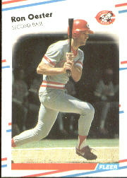 1988 Fleer Baseball Cards      242     Ron Oester