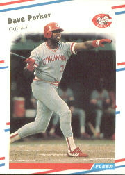 1988 Fleer Baseball Cards      243     Dave Parker