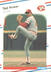 1988 Fleer Baseball Cards      245     Ted Power