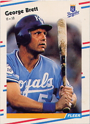 1988 Fleer Baseball Cards      254     George Brett