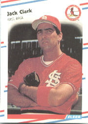 1988 Fleer Baseball Cards      026      Jack Clark